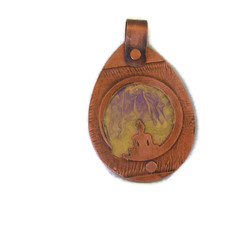 Copper Pendant Buddha Etched