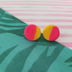 Yellow & Pink Ear Studs