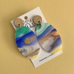 Watercolour Statement Earrings