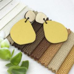 Sunflower Yellow Leather earrings