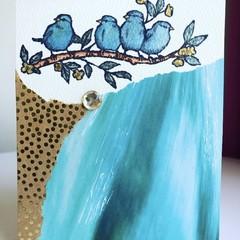 Blue birdies card