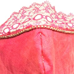 Face mask covering pink lace sparkle bling adult medium