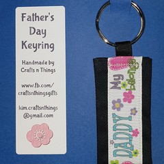 Father's day keyring - My heart belongs to Daddy