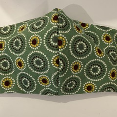 Aboriginal Print  Three Layer Mask