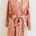 Over sized Kimono Jacket - M size 10 -12 - Pink and Taupe