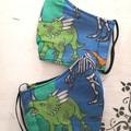 Reusable Fabric Face Mask - Dinosaurs  K