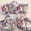 Reusable Fabric Face Mask - Mint Floral (L)