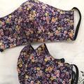 Reusable Fabric Face Mask - Purple Posy(L)