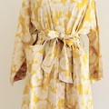 Over sized Kimono Jacket - M size 10 -12 - Yellow & white