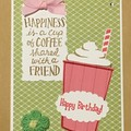 Birthday Card -  friends and coffee Free Post