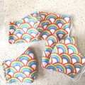 Reusable Fabric Face Mask - Rainbows  K