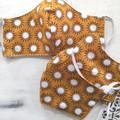 Reusable Fabric Face Mask - Mustard Splash (L)