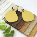 Sunflower Yellow Leather earrings