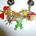 Enamel bracelet with garden theme