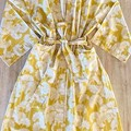 Over sized Kimono Jacket - M size 10 -12 - Yellow & white