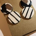 Stripe and leopard print stud pack - Polymer clay earrings