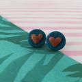 Glittery Heart - Ear Buds