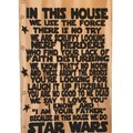 Quirky Star Wars Home Woodburnt Wall Art