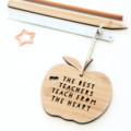 Teacher Thank You Gift, 2 Designs, Bamboo Apple Decoration, Christmas Ornament