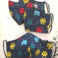 Reusable Fabric Face Mask - Space Invaders  K