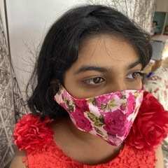 Red Stripes - Hand made 3 layered cotton face masks $12