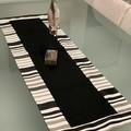 Table Runner-Black Stripe Full boarder - 100cm x 35cm