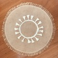 PLACE MAT Cream Jute Tassel
