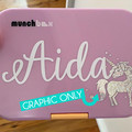 GRAPHIC - SMALL 5CM VINYL GRAPHIC DECAL GLITTER OR METALLIC