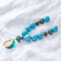 Boho Turquoise Shell Necklace.