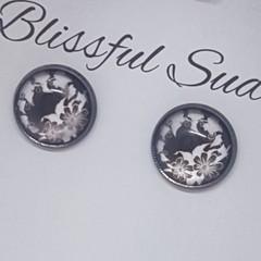Handmade 12mm Glass Stud Earrings
