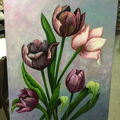 Canvas Painting - Tulips