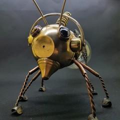 Steampunk Radio-tracking Hybrid Bee.  Free Shipping