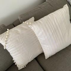 Cushions-2 Cream-50cm x 45cm - $40.00 for both.