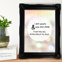 'I am Yours' - Quote, Typography Artwork, Instant Download Printable