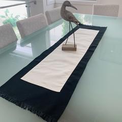 TABLE RUNNER- BLACK AND WHITE
