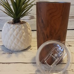 PERSONALISED TUMBLER | WOOD STYLE | TRAVEL MUG/COFFEE TUMBLER