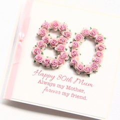 Any Age Mum Birthday Card Personalised Handmade Birthday Card Made For Her