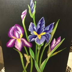 Canvas Painting of Irises