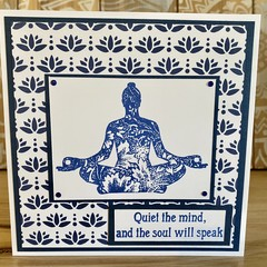 Quiet the mind | All occasions card