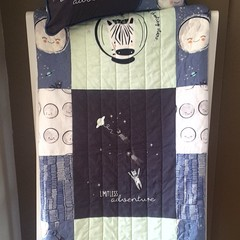 Toddler quilt and cushion, cot quilt and cushion baby blanket, playmat