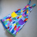 Lori Overalls - Upcycled, Rainbow Painted Denim, Size S