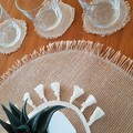 Placemat (1) 40cm and Coasters (4)-Straddie Vibes