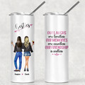 Best Friends Sisters Stainless Steel Skinny Tumbler with Straw - SKT050