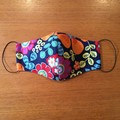Three Layer Face Mask - Flowers - ADULT