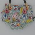 Frilly ruffle bloomers, Australiana bloomers for girls , newborn to 3 years