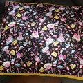 Dog Bed-Large-Flamingo Cotton Print
