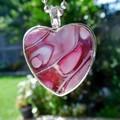 Heart pendant 25 mm, Original acrylic art tiny painting,