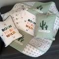 Cot quilt, cot set, nursery set, cot quilt and cushions, desert theme