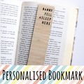 Personalised Bookmark ADD NAME Custom Made Gift, Bamboo Bookmark, Reader Gift