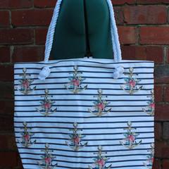 Handmade eco-friendly canvas beach bag | gift idea